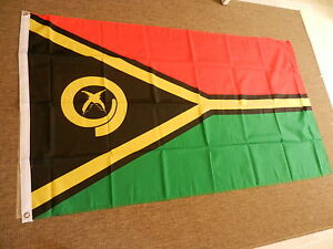 VANUATU-FLAG-FLAGS-5-039-X3-039-POLYESTER-BRAND-NEW-POST-FREE-IN-UK