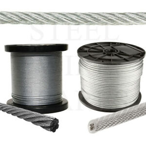 Stainless Steel Balustrade Galvanised Coated Wire Rope Metal Cable ...