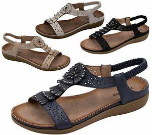 Ladies-Sandals-Womens-Shiny-Flat-Flip-Flop-Beach-Sliders
