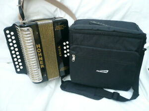Lovely Hohner Erica Two Row Button Accordion in D/G