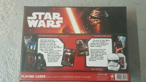 STAR WARS Playing Cards Gift Box Cards /& Helmets Container