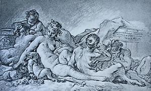 Grabado François Carnicero Colección Albertine (Viena) Ad Braun & Compañía 1856