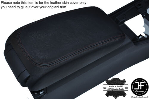BLACK STITCHING LEATHER ARMREST COVER FITS AUDI A3 8V 2013-2016