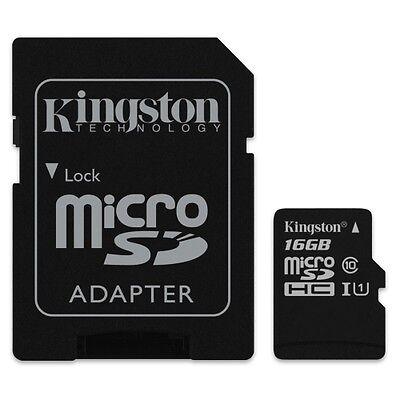 Kingston 16GB MircoSDHC Class 10 Flash Memory Card C10 16G 16G GB Micro SD HC