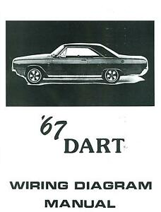 1967 67 dodge dart wiring diagram manual ebay rh ebay com