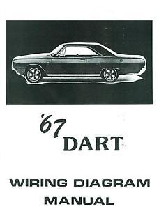 1967 67 dodge dart wiring diagram manual ebay69 Charger Wiring Diagram