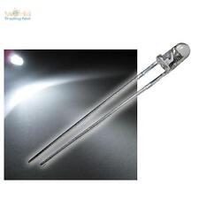 50 LEDs 3mm BLINKEND WEISS LED klar FLASHING Alarmdummy