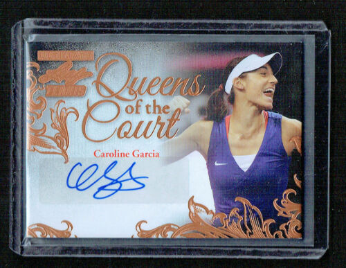Caroline Garcia signed autograph 2015 Leaf Ultimate Tennis Queens of the Court