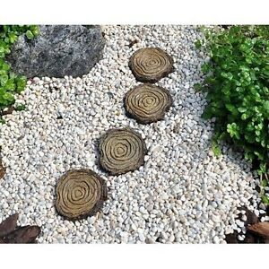 Image Is Loading Tree Stump Stepping Stones Set Of 4 1