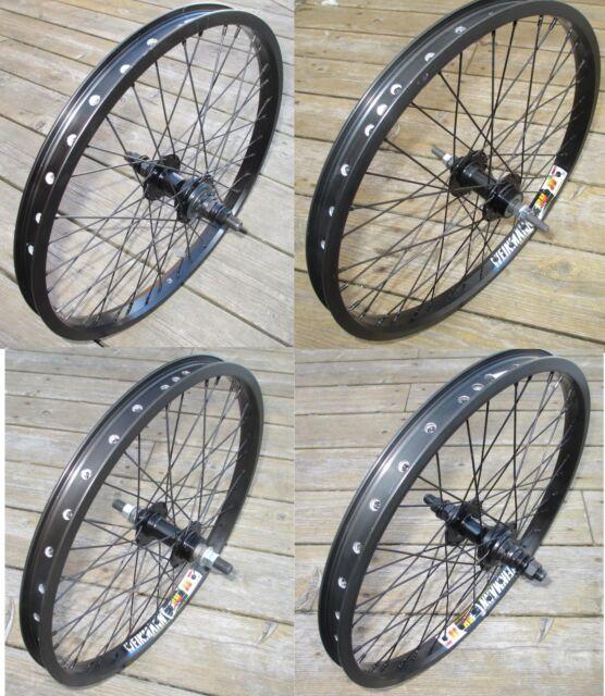 """Rad 20"""" Variationen BMX vorne oder 9t oder Flip Flop hinten doppelwandig Felgen NEU"""