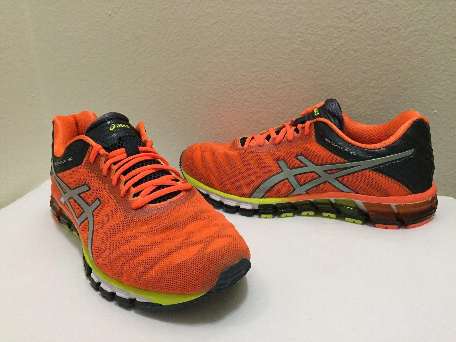 ASICS Men's Shoes GEL-Quantum 180 Running Hot Orange/Black/Silver T5J2N 3093