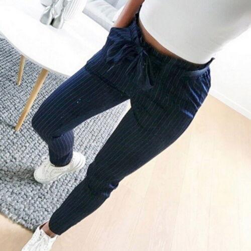 Damen Chinohose Stoffhose Business Freizeit High Waist Skinny 3//4 Hose Sommer FL