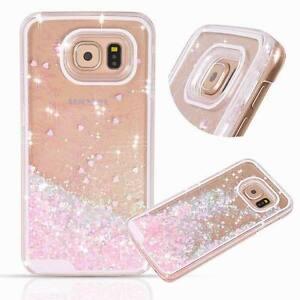 Brillante-Brillos-Corazon-Liquid-Arenas-Movedizas-Funda-para-Samsung-Galaxy-S7