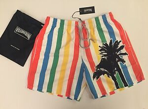 ebeddd2506 New w Tags & Bag Authentic Vilebrequin Moorea Multicolor Swim Trunks ...