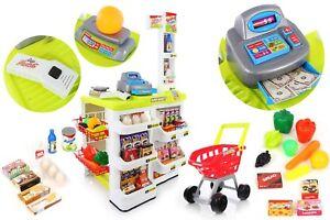 kaufmannsladen kaufladen einkaufswagen kp6443 kinder supermarkt mit zubeh r ebay. Black Bedroom Furniture Sets. Home Design Ideas