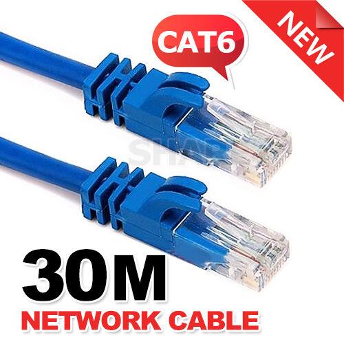 Extension 30M 60FT RJ45 CAT5 CAT5E Ethernet LAN Network Cable 100M/1000Mbps