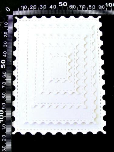 2 Sets of 5 Stitched Stamp Rectangle Frame Die Cuts Ch Any Colour//Card