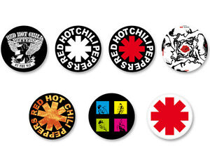 Lot-Pack-Badge-Button-38mm-Logo-Red-Hot-Chili-Peppers-Rock-USA