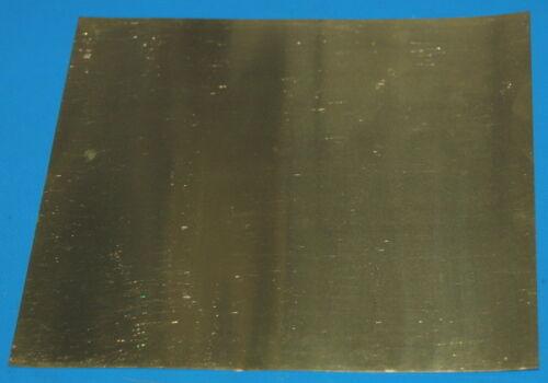 """0.05mm 6x6/"""" Brass 260 Sheet // Foil .002/"""""""