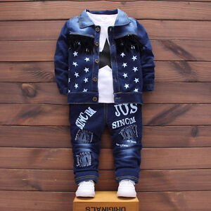 23092c4ca DIIMUU Baby Clothes Boy Outfits Sets Infant Boys Clothing Coat + T ...