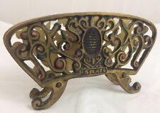 Vintage Jewish Israel Brass Napkin Holder