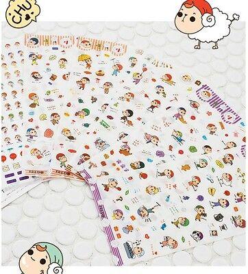 Cute Sheep Girl Schedule Diary calendar Filofax Decoration Point Sticker 6sheet