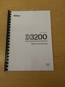 nikon d3200 camera fully printed instruction manual user guide 228 rh ebay ie Owner's Manual User Manual