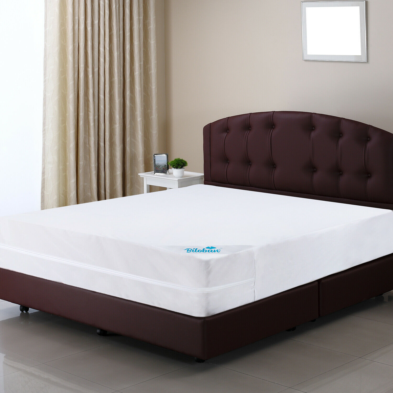 White 100/% Polyester Knit Fabric Encasement Waterproof Machine Washable Bed Bug /& Dust Mite Proof CO-Z Mattress Protector with Zipper Closure 6-Sided Cover Twin Size