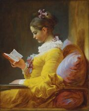 """perfact 24x36 oil painting handpainted on canvas """"a girl reading book""""@N165"""