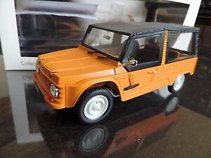 CITROEN-MEHARI-4x2-orange-NOREV-1-18-avec-accessoires-no-mehari-4x4