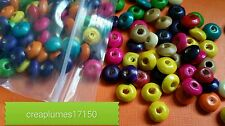 Lot de 200 perles en bois multicolore 4mm