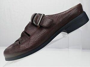 Ariat-Clog-Fisherman-Sandals-Brown-Leather-Slip-On-Strap-Slides-Womens-Size-9B