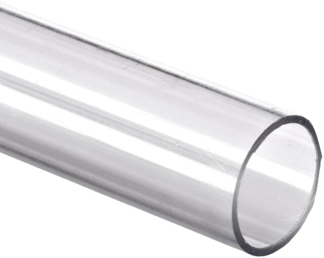 """48/"""" Polycarbonate Round Tube - 1//2/"""" ID x 3//4/"""" OD x 1//8/"""" Wall Nominal Clear"""