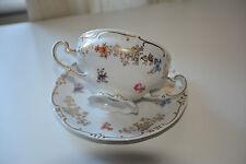 Vintage Weimar Germany GDR porceline soup bowl/cup and saucer