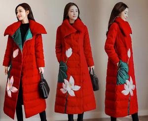 Capispalla risvolto donne ricamo in retrò floreale stile cinese con per le rUHw8qxUn