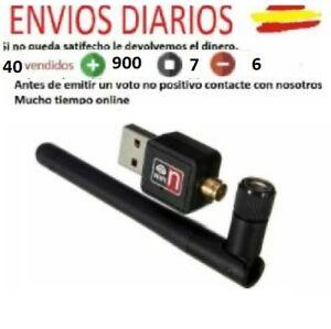 MINI-ADAPTADOR-RED-WIFI-INALAMBRICO-150Mbps-USB-LAN-802-11n-g-b-2dBi-Antena