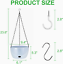 thumbnail 2 - GROWNEER 2 Packs 9.4 Inches Plastic Hanging Planter Self Watering Basket with 6