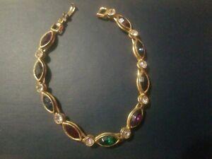Multi-Color-Gemstone-Journey-Tennis-Rainbow-Bracelet