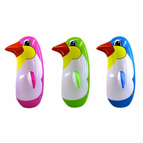 3pcs Inflatable Punching Toy Punching Bag Colorful Blow Up Tumbler Toy for Kids