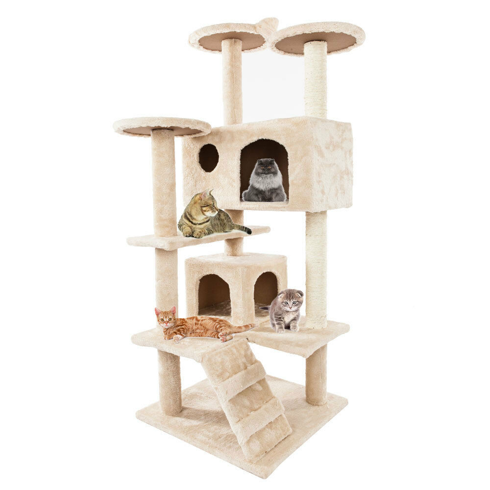 Cat Climb Tree Scratcher Play House Condo Furniture Bed Post Pet House Toys