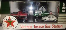 4 pack TEXACO VINTAGE GAS STATION Diorama Diecast 1:64 Greenlight 3in MotorWorld