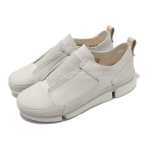 clarks triverve slip on white leather men casual lifestyle