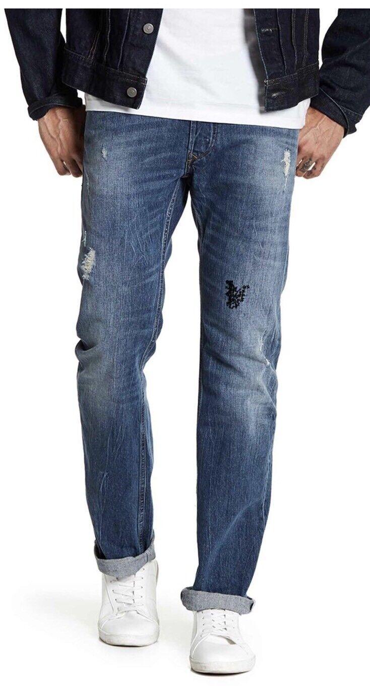 NWT  Mens Diesel Viker Regular Straight Jeans 30 X 32 ORBE4