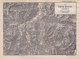 1903 ANTIQUE MAP SWITZERLANDTHE CHURDAVOS DISTRICT eBay