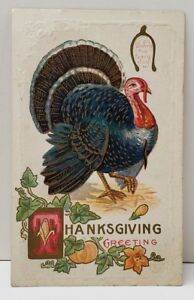 Thanksgiving-Greeting-Large-Turkey-and-a-Wishbone-Postcard-B11