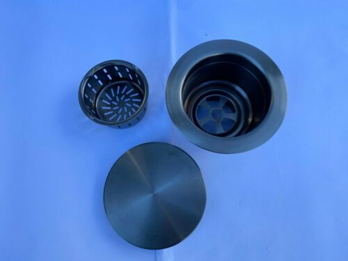 Brass gold copper Gunmetal Flat kitchen sink waste strainer plug suit most sink