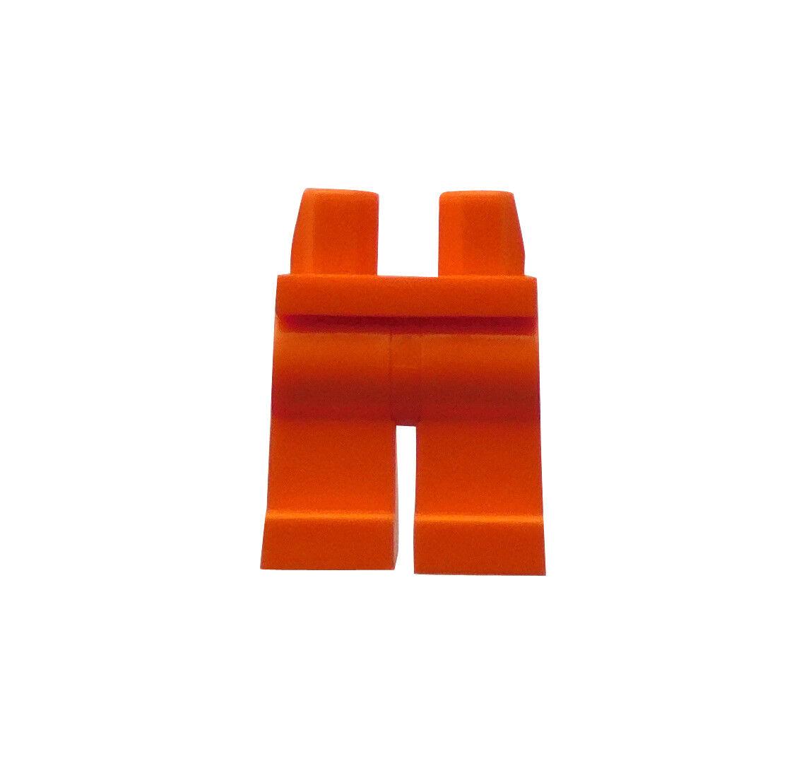 Lego 2 Stück orange Beine Hosen für Minifiguren Figuren Basics City Neu