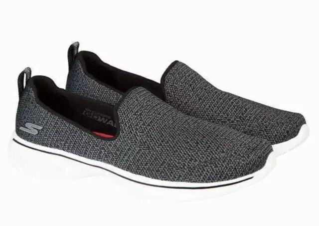 2171a61643642 Skechers Performance Womens Go Walk 4 Slip on Shoe Black Grey for ...
