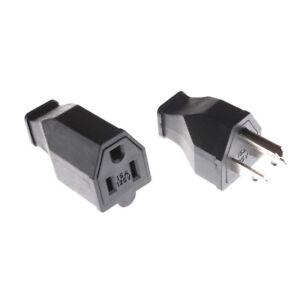 AC-125V-15A-3-Pin-Power-Cord-Connector-US-Plug-Converter-High-Performanc-IPLUS