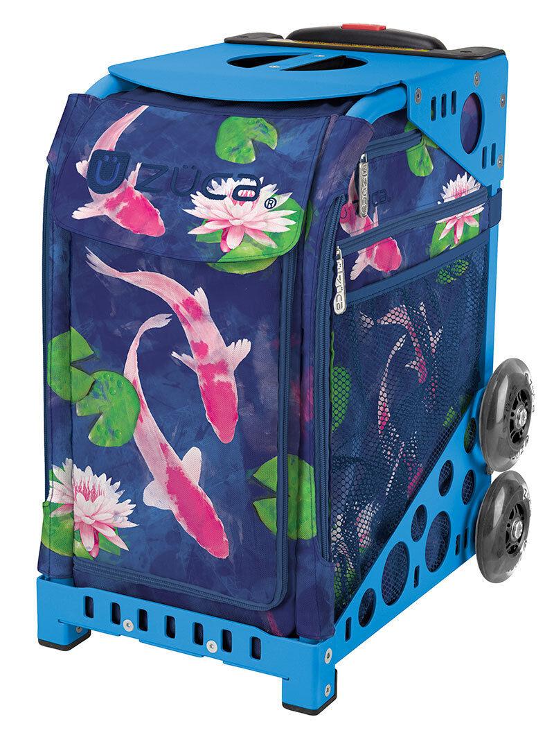 ZUCA Bag KOI Insert & bluee Frame w Flashing Wheels - FREE SEAT CUSHION